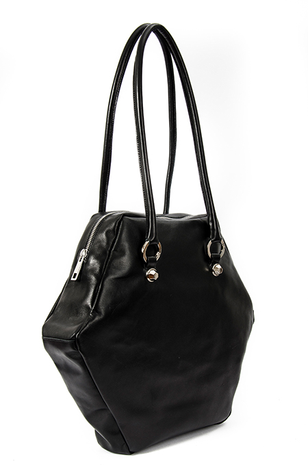BLACK HEXAGON BAG