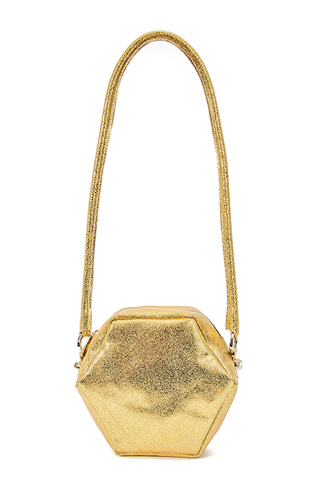 GOLD HEXAGON SHOULDER BAG