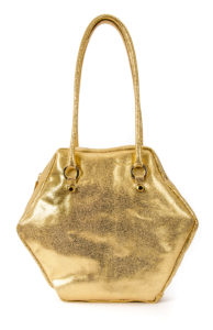 GOLD HEXAGON L BAG