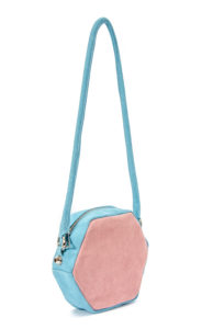 3 colours hexagon shoulder bag