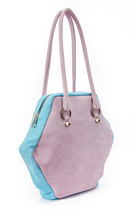 TRI-COLOURS HEXAGON BAG