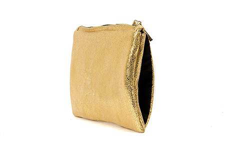 GOLD MUFF CLUTCH BAG