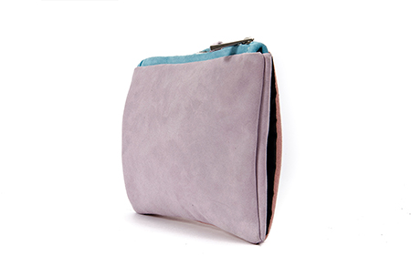 TRI COLOURS MUFF CLUTCH BAG