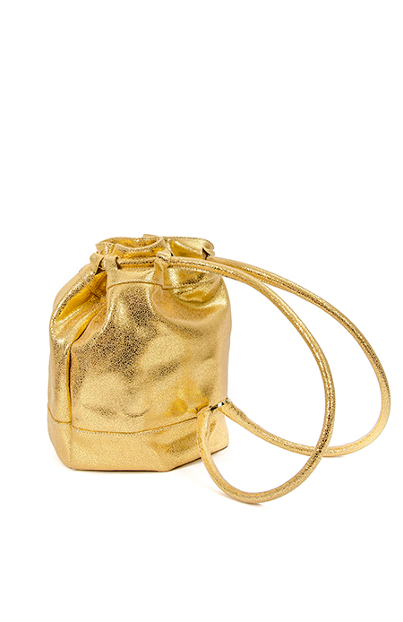 GOLD BUCKET BAG