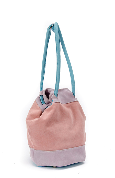 TRI-COLOURS BUCKET BAG